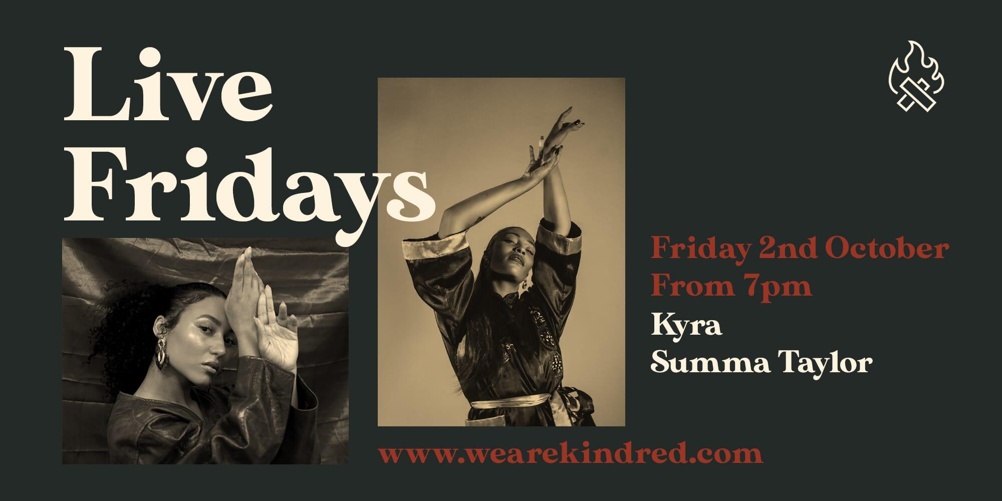 Live Fridays 2nd October Web II